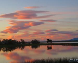 Ninepipe Montana sunset