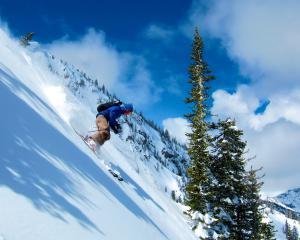 Downhill skiing Montana