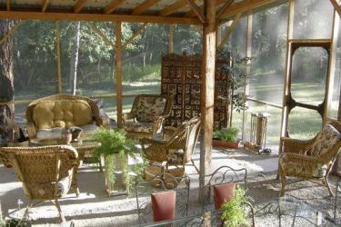 Screened porch along Bitterroot River