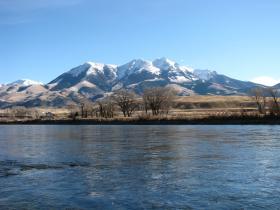 Pristine Yellowstone River and Emigrant Peak